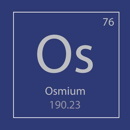 Osmium Os chemical element icon- vector illustration