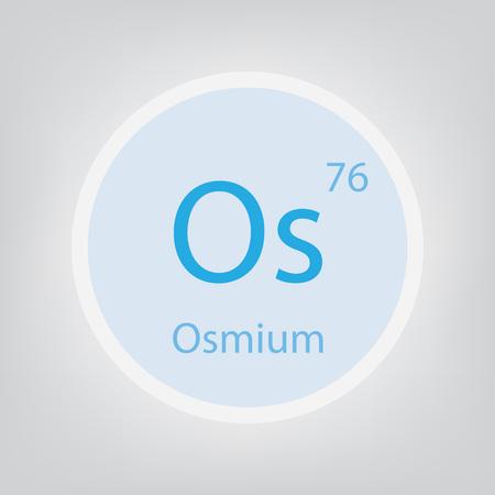 Osmium Os chemical element icon- vector illustration 일러스트