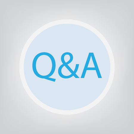 Q & A (questions and answers) - vector illustration