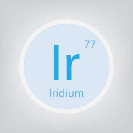 Iridium Ir chemical element icon- vector illustration