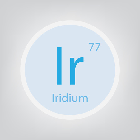 Iridium Ir chemical element icon- vector illustration