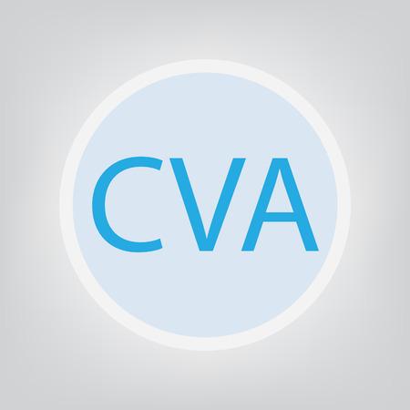 CVA (Cerebral Vascular Accident) - vector illustration Vettoriali