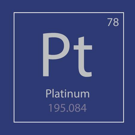 Platinum Pt chemical element icon- vector illustration