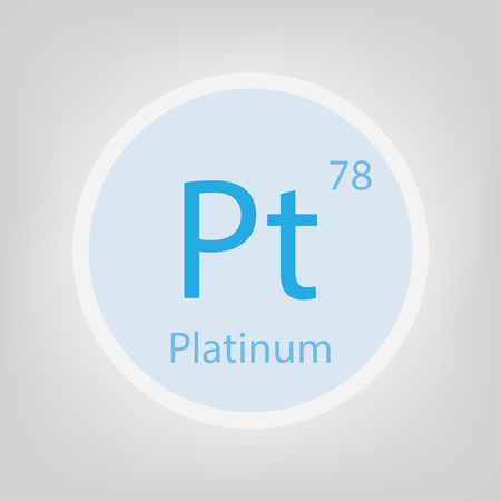 Platinum Pt chemical element icon- vector illustration