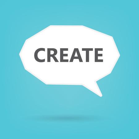 create written on speech bubble- vector illustration