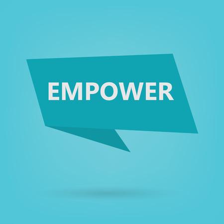 empower word on sticker- vector illustration
