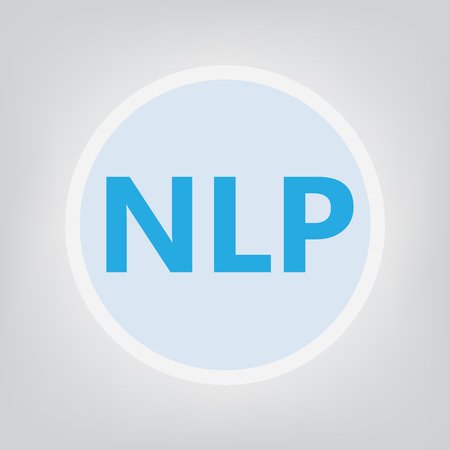 NLP (Neuro Linguistic Programming) - vector illustration Stock Illustratie