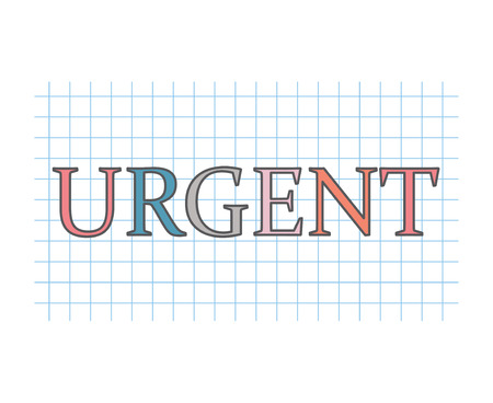 urgent concept- vector illustration Иллюстрация