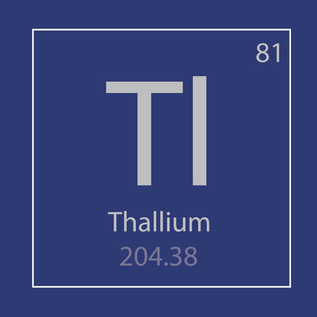 Thallium Tl chemical element icon- vector illustration