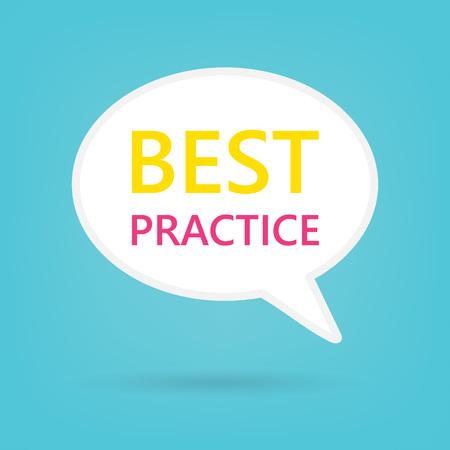 best practice written on speech bubble- vector illustration 일러스트