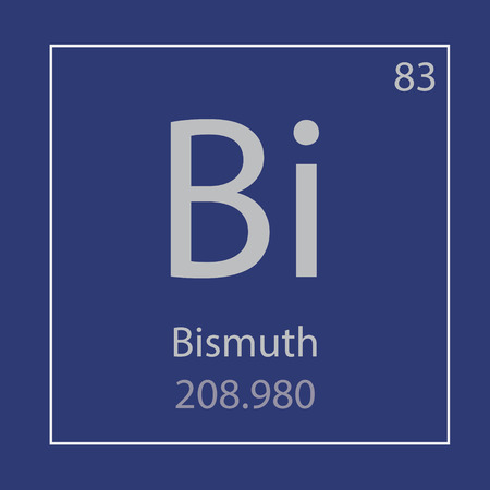 Bismuth Bi chemical element icon- vector illustration 일러스트