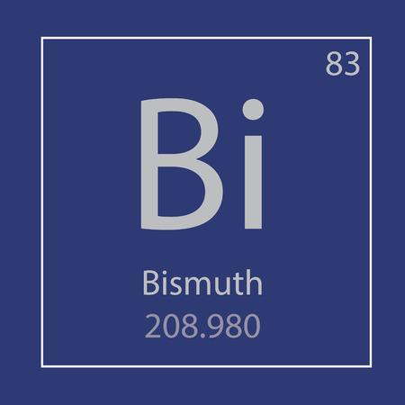 Bismuth Bi chemical element icon- vector illustration