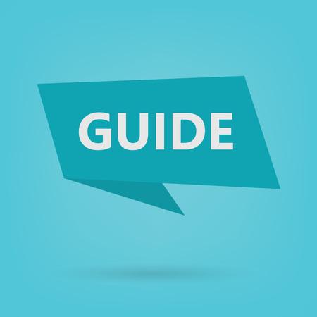 guide on sticker- vector illustration