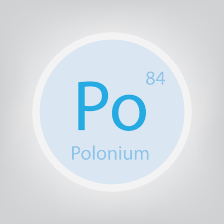Polonium Po chemical element icon- vector illustration