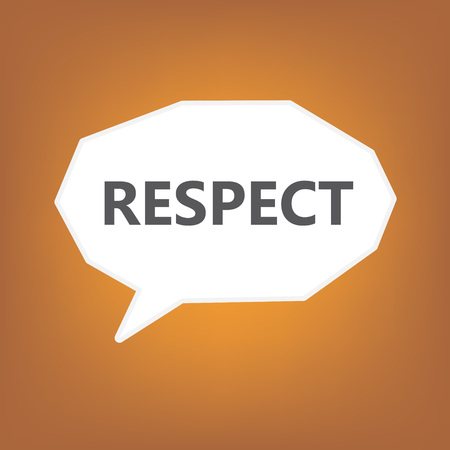 respect written on speech bubble- vector illustration