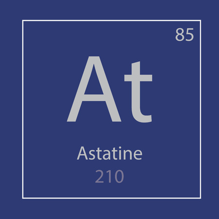 Astatine At chemical element icon- vector illustration Иллюстрация