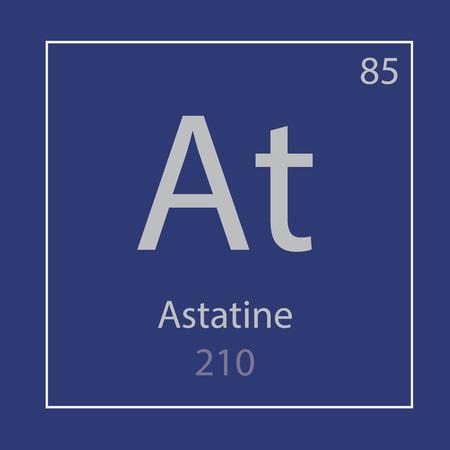 Astatine At chemical element icon- vector illustration Ilustração
