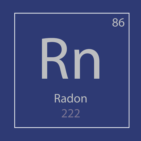 radon Rn chemical element icon- vector illustration