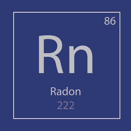 radon Rn chemical element icon- vector illustration Banco de Imagens - 103827424