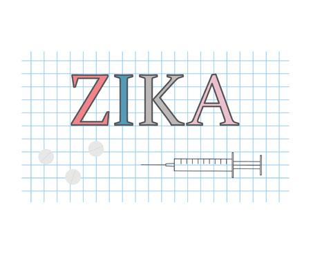 Zika on checkered paper sheet- vector illustration Illustration