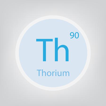 Thorium Th chemical element icon- vector illustration Ilustração