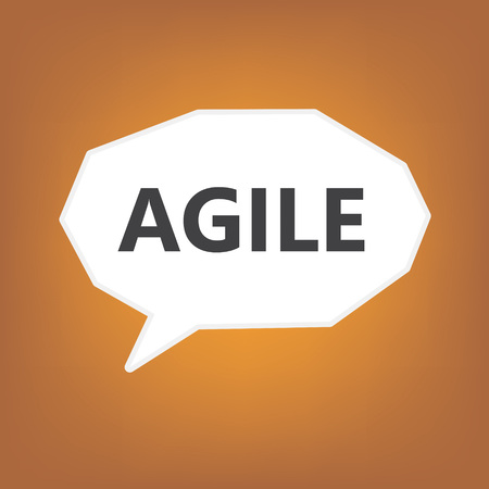 agile written on speech bubble- vector illustration