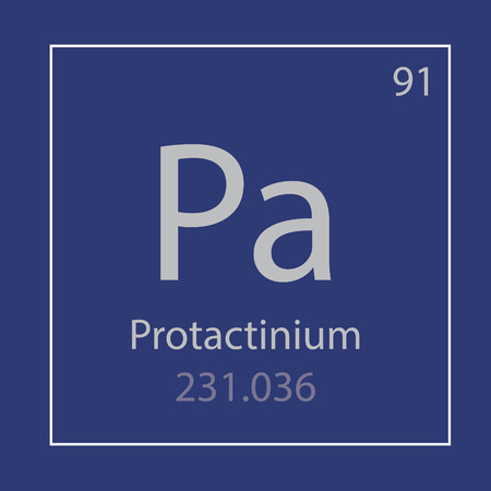 Protactinium Pa chemical element icon- vector illustration Stock Illustratie