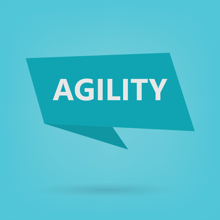 agility word on sticker- vector illustration