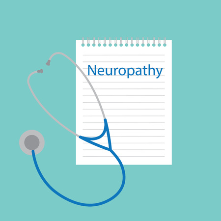 Neuropathy written in a notebook- vector illustration