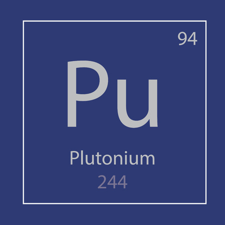 plutonium Pu chemical element icon- vector illustration