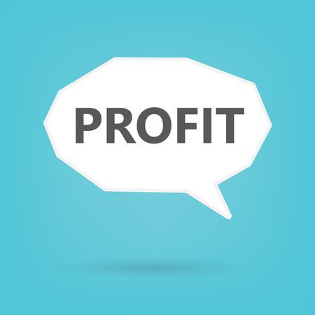 profit word on speech bubble- vector illustration