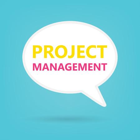 project management written on speech bubble- vector illustration