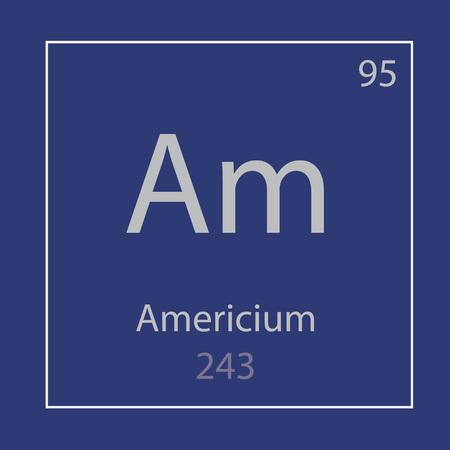 Americium Am chemical element icon- vector illustration