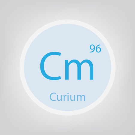 Curium Cm chemical element icon- vector illustration