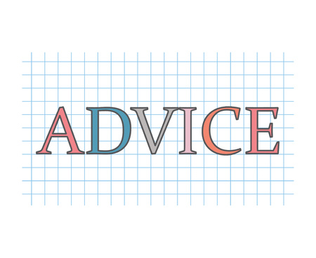advice concept- vector illustration