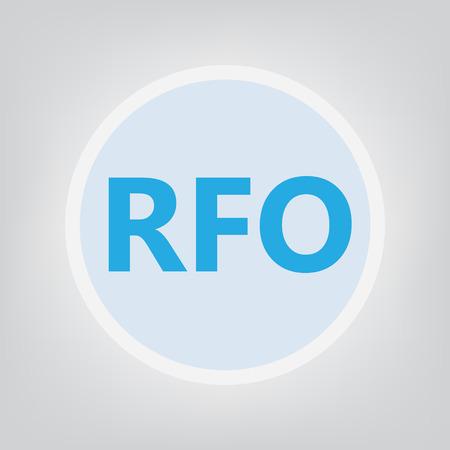 RFO (Request For Offer) - vector illustration Vektoros illusztráció