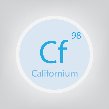 Californium Cf chemical element 일러스트