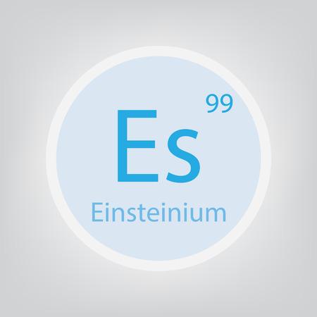 Einsteinium Es chemical element
