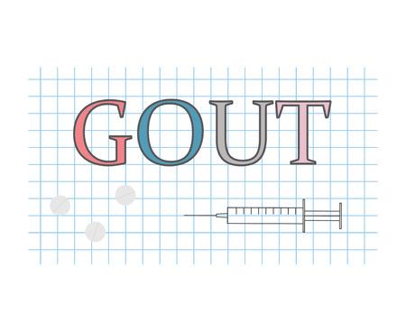 gout disease concept Vector Illustration