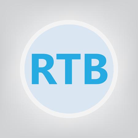 RTB (Real-time bidding) concept Illusztráció