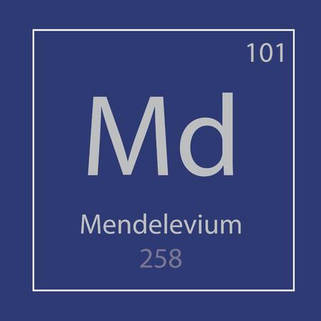 Mendelevium Md chemical element Banco de Imagens - 105103174