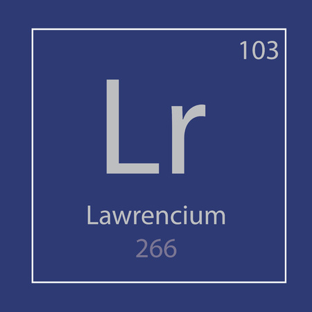 Lawrencium Lr chemical element icon- vector illustration Banco de Imagens - 105067598