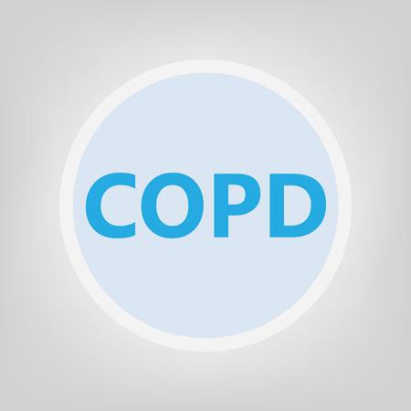 COPD (Chronic Obstructive Pulmonary Disease) - vector illustration