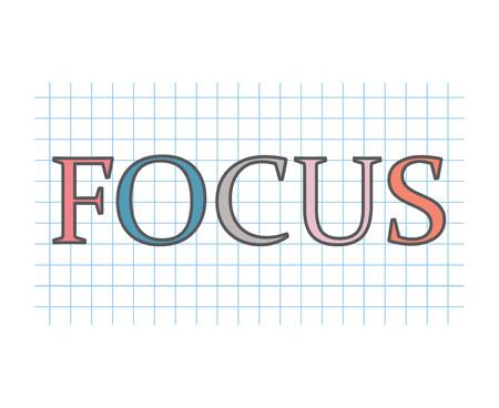 focus concept- vector illustration