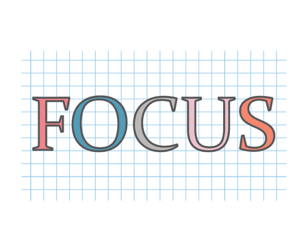 focus concept- vector illustration