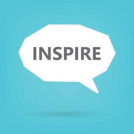 inspire word written on speach bubble Illustration