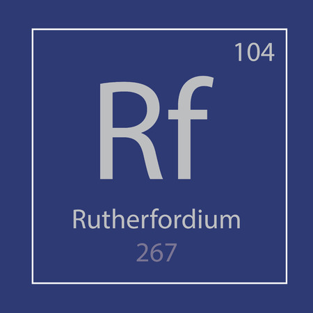 Rutherfordium Rf chemical element icon- vector illustration Иллюстрация