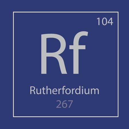 Rutherfordium Rf chemical element icon- vector illustration Ilustração