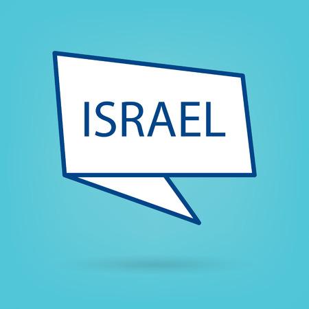 Israel word on sticker- vector illustration