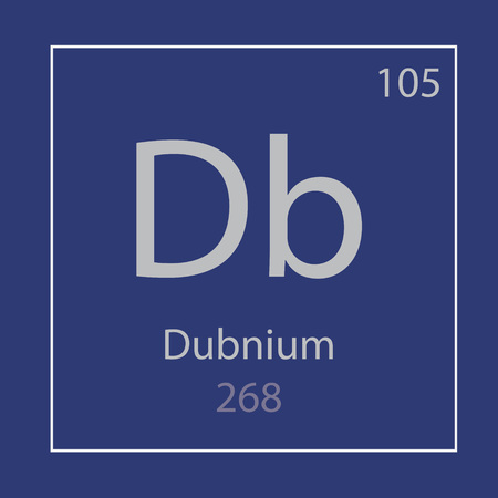 Dubnium Db chemical element icon- vector illustration 일러스트